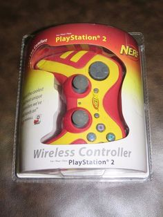 Brand New NERF Playstation 2 Wireless Controller Red/Yellow PS2 #Pelican & 3 Pack Ziploc TableTops Dishware Dinner Plates w/ Lids Snap Seal New ...