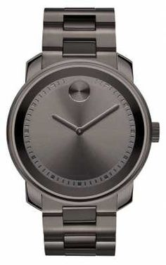Movado bold Large Gunmetal Gray Ion-plated K1 Crystal 3600259 Movado Mens  Watches d13b702ae396f
