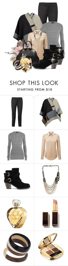 """Untitled #579"" by mlka ❤ liked on Polyvore featuring The Row, Burberry, Tom Ford, Pure Collection, Bottega Veneta, Sorrelli, Elizabeth Arden, Topshop and Dolce&Gabbana"