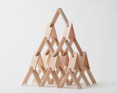 kengo kuma tsumiki pavilion tokyo design week triangle-shaped wooden blocks designboom
