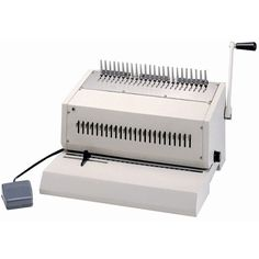 "The Tamerica 240EPB Heavy duty electric comb binding machine easily punches and binds documents up to 14"" wide and 2"" thick at a speed of up to punching 20,000 sheets an hour and binding 250 books an hour. With its electric punch, automatic foot pedal control, and adjustable margin depth control, the Tamerica 240 EPB allows for quick, easy to use functionality designed for offices, print shops, or medium businesses needing a reliable, speedy machine."