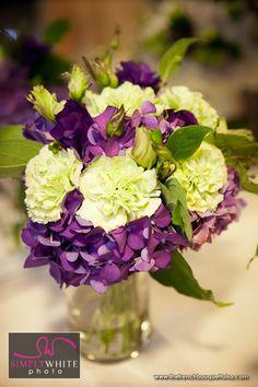 white roses purple carnation purple hydrangea | ... Bouquet Blog - inspiring wedding & event florals » Purple Hydrangeas