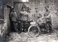 military motorcycles, early 20th century
