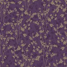 Morning Shadow Wallpaper In Plum By Graham U0026 Brown (Living Room)