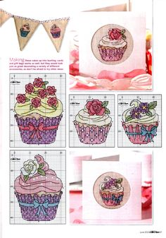 Cupcake cross stitch #free #pattern