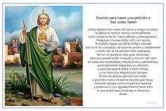 Oración para hacer una petición a San Judas Tadeo