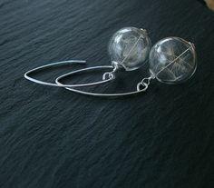 °Pusteblume Ohrringe 925 Silber pur° von Mirakel auf DaWanda.com