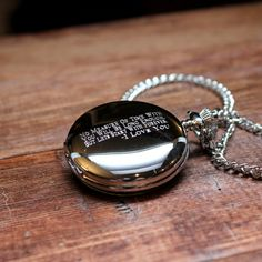 Personalized Pocket Watch  Polished Chrome by TheBestManGifts