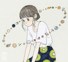 イラスト : 壮大な宇宙の事を考えているが時々食欲が邪魔をする。pic.twitter.com/A2Wp4irr9k Character Drawing, Character Illustration, Illustration Art, Character Design, Dibujos Cute, Wow Art, Kawaii Art, Illustrations And Posters, Studio Ghibli