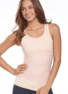 aa09629d67a03 Jockey Womens High Back Scoop Neck Shapewear Tank Shapewear Tanks polyester