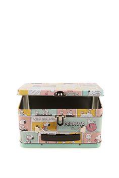 snoopy peanuts pastel mini tin case