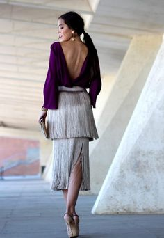 Pin by Esta es mi Moda on Faldas in 2019 Elegant Outfit, Elegant Dresses, Pretty Dresses, Skirt Outfits, Dress Skirt, Skirt Fashion, Fashion Dresses, Looks Party, Cocktail Outfit