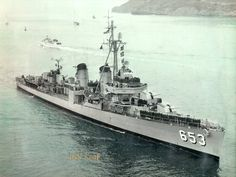 USS Knapp, a Fletcher Class destroyer built by Bath Iron Works, launched from Bath, Maine in 1943.