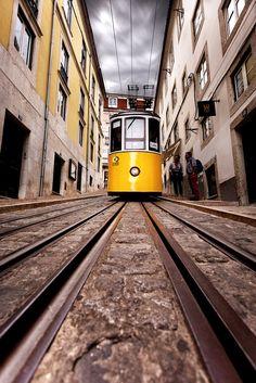 Elevador da Bica Iberian Peninsula, Architecture Board, Light Rail, More Wallpaper, Portugal Travel, European Countries, Lisbon, Portuguese, Wander