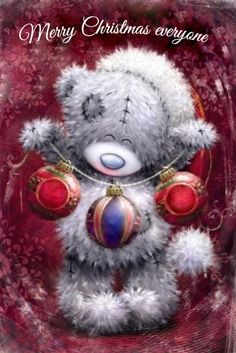 ♥ Tatty Teddy ♥ More Christmas Scenes, Christmas Clipart, Christmas Pictures, Christmas Art, Vintage Christmas, Xmas, Tatty Teddy, Watercolor Card, Teddy Bear Pictures