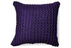 Links 20x20 Alpaca Pillow, Purple on OneKingsLane.com