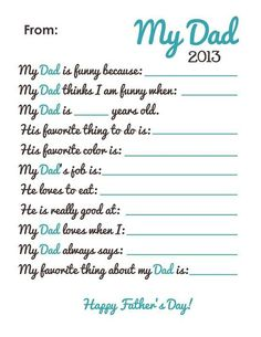 father's day blank coupon book