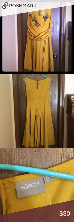Yellow dress w/ pockets Never worn. Bought for my sister's wedding but ended up going with a different dress! eshakti Dresses