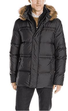 Marc New York by Andrew Marc Men's Tundra Down Parka with Fleece Bib, Faux Fur Trimmed Hood Size XL Combining full length coverage and a generous, comfortable f Mens Parka Jacket, Hooded Jacket, Men's Coats And Jackets, Winter Jackets, Parka Jackets, Best Parka, Look Good Feel Good, Andrew Marc, Down Parka