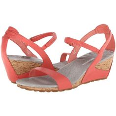 Patagonia Solimar Wedge Strap (Coral) Women's Wedge Shoes (90 NZD) ❤ liked on Polyvore featuring shoes, sandals, coral, wedge heel sandals, coral strappy sandals, coral wedge shoes, strap sandals and wedges shoes
