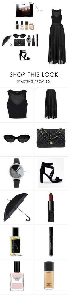 """""""Lady look"""" by missgoldy ❤ liked on Polyvore featuring Topshop, FABIANA FILIPPI, Chanel, BKE, New Look, Fulton, NARS Cosmetics, Christian Dior, Nailberry and Marula"""