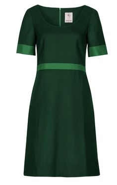 A wonderful classy dress Tea Dress Martha - also in other combinations Pine Green/Jadegreen