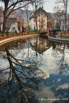 BISTRITA 2013..,prin parc by GREC  LAURENTIU Beautiful Places, Beautiful Pictures, 2013, Romania, Reflection, Places To Visit, Spaces, Country, Heart