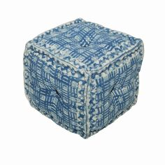 Indigo Dabu Pouf artisanconnect.com