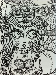 The OrIgINaL Chubby Mermaid CoLoRiNg Book for you by ChubbyMermaid, $12.00