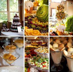 Food arrangement ideas for the #wedding reception