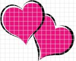 Two Pink Hearts Crochet Graphghan Pattern (Chart/Graph AND Row-by-Row Written Instructions)