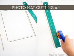 properly cutting photo mats >> Curbly | DIY Design Community