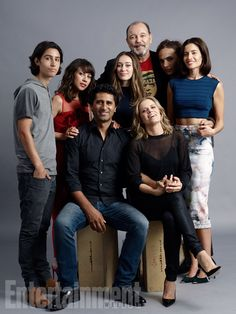 Comic-Con 2015 Star Portraits: Day 3 | (Standing, l-r) Lorenzo James Henrie, Elizabeth Rodriguez, Alycia Debnam-Carey, Ruben Blades, Frank Dillane, Mercedes Mason; (seated) Cliff Curtis, Kim Dickens, 'Fear the Walking Dead' | EW.com