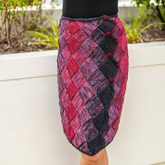 Entrelac Wrap Skirt by Gwen Bortner   Knitting Pattern - Looking for your next project? You're going to love Entrelac Wrap Skirt by designer Gwen Bortner. - via @Craftsy