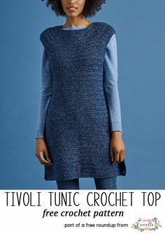 Crochet this easy beginner friendly tunic from my breezy crochet tops for summer free pattern roundup!