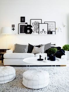 Wall Art Black And White 20 of the best colors to pair with black or white | living rooms