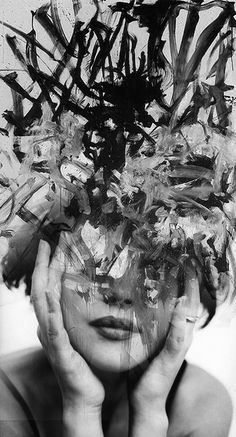abstract passion,  monica bellucci and joan mitchell, by antonio mora  mylovt.myshopify.com