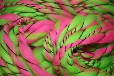 Handspun Hand dyed Corriedale Art Yarn  FREE by CurlyCewes on Etsy, $29.50