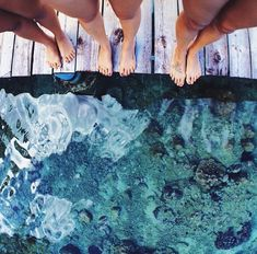 Happiness | Clear Blue Ocean Waters | Summer Pier | Wood Deck | Friends | Joy | Child Like Glee | Sunshine | Lake Days