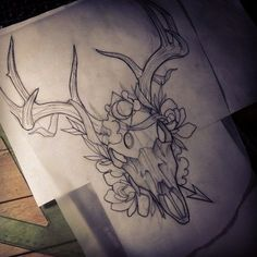 Image result for STAG NEOTRADITIONAL BLACKWORK TATTOO