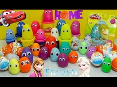 Over 30 SURPRISE EGGS! FROZEN, CARS, HOME MOVIE AND KINDER SURPRISE! - YouTube