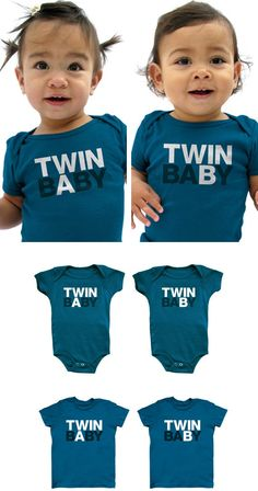 Help other people (and yourself) tell your twins apart with these tiny rompers.