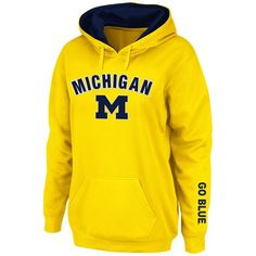 Michigan Wolverines Stadium Athletic Women's Arch & Logo Pullover Hoodie - Yellow - $34.99