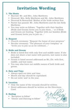 Wedding Invitation Wording #invitationtips #weddingplanning { wedding invitations } #weddinginvitation