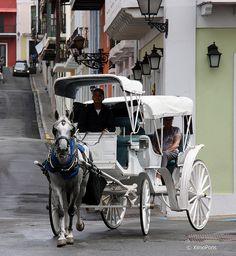 Carriage ride in Old San Juan, PUERTO RICO.