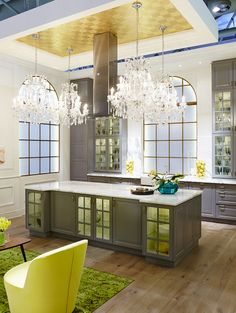 A bright, beautiful kitchen fit for a French castle