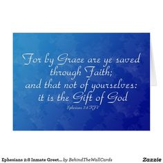 Ephesians 2:8 Inmate Greeting Card