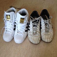 #white and #offwhite #adidasoriginals  Adidas Superstar, Adidas Originals, Off White, Adidas Sneakers, Instagram Posts, Shoes, Fashion, Moda, Zapatos