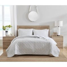 Read reviews and buy Willow Way Ticking Stripe Quilt Set - Stone Cottage at Target. Choose from contactless Same Day Delivery, Drive Up and more. Twin Quilt, Quilt Bedding, Bedding Sets, Comforter, Striped Quilt, Grey Quilt, Striped Bedding, King Quilt Sets, Queen Quilt