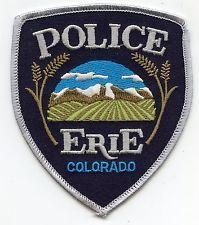 ERIE COLORADO  POLICE PATCH